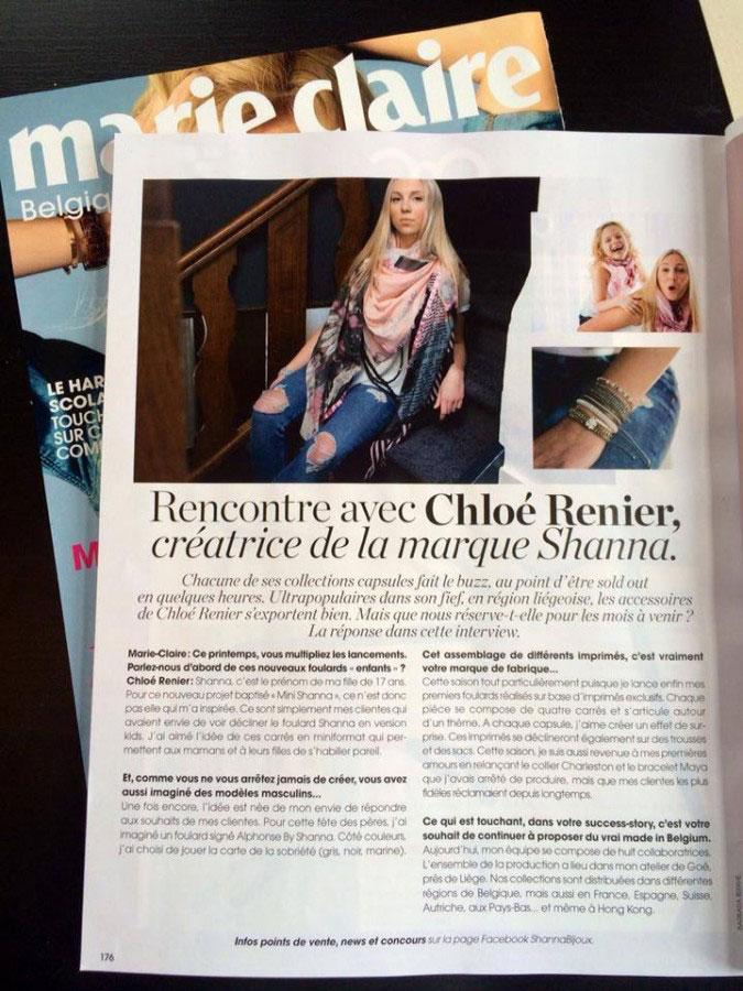 Artikel in Marie Claire über Shanna